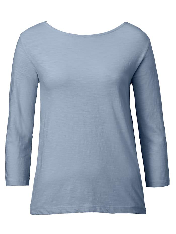 SIENNA Shirt mit Knoten im Rückenteil, Blau