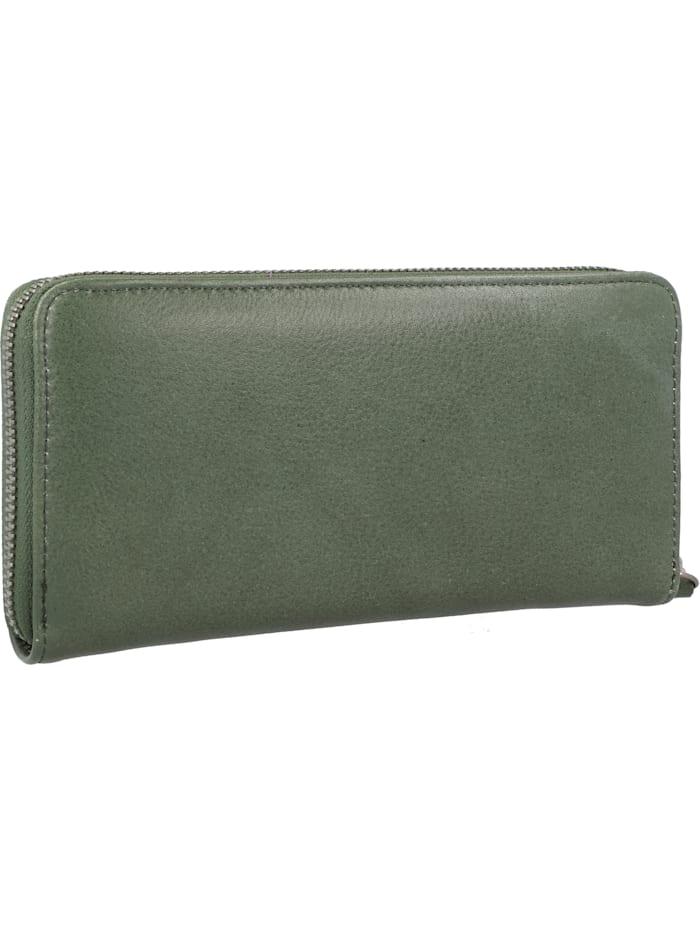 Zoom Zip Geldbörse Leder 20 cm