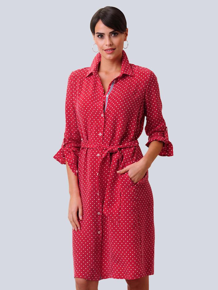 Alba Moda Šaty s bodkovaným vzorom, Červená/Prírodná biela