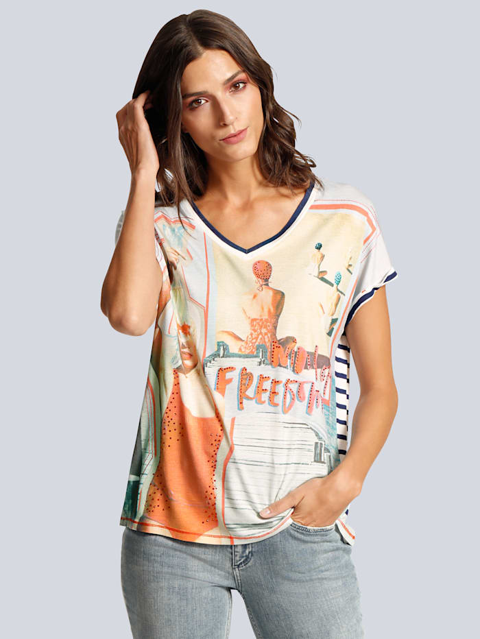 T-Shirt mit unterschiedlichen Motiven vorne und hinten