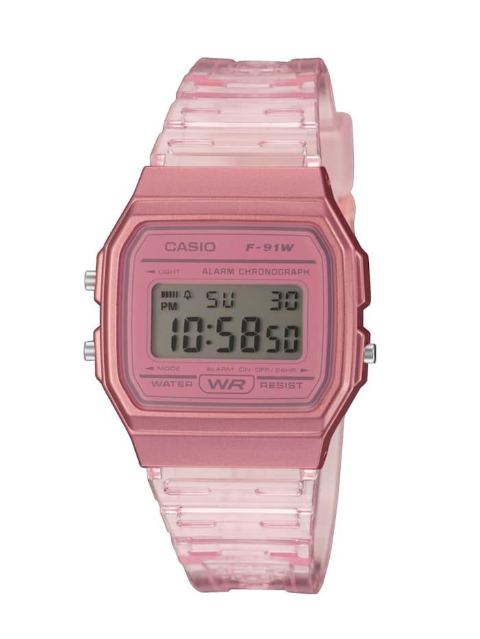 Casio Damen-Uhr Chronograph, Rosé