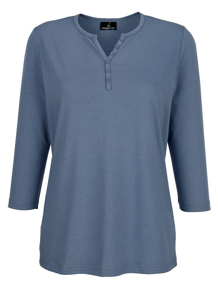 Shirt mit Zierknöpfchen