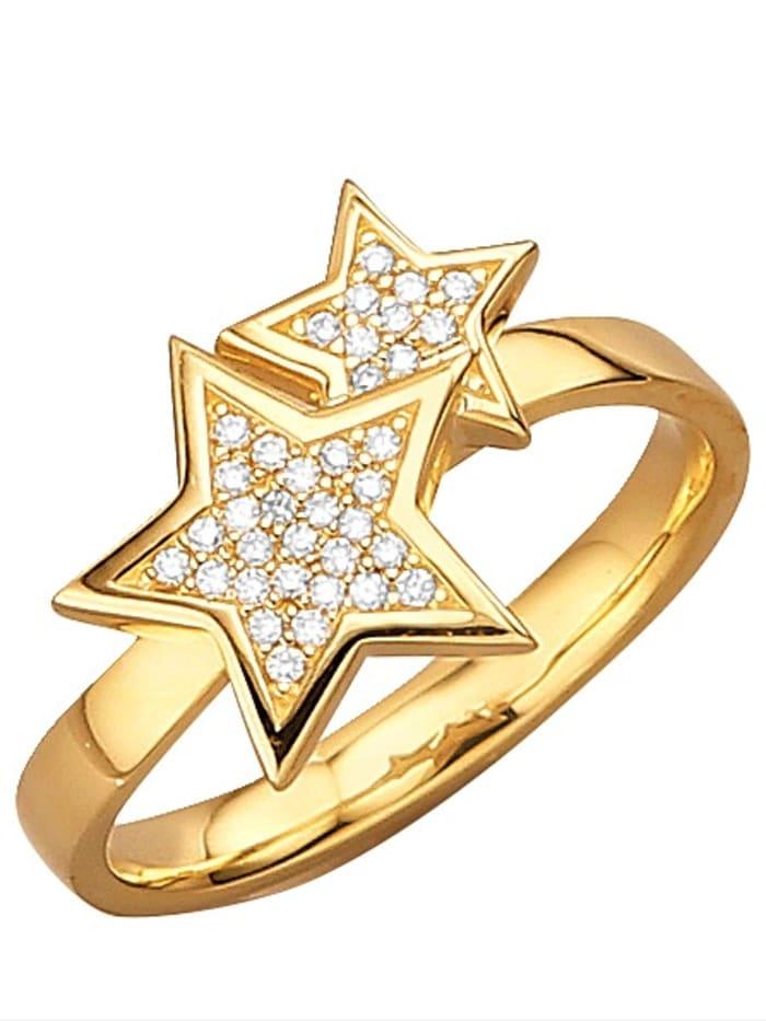 Stern-Ring mit 36 Brillanten