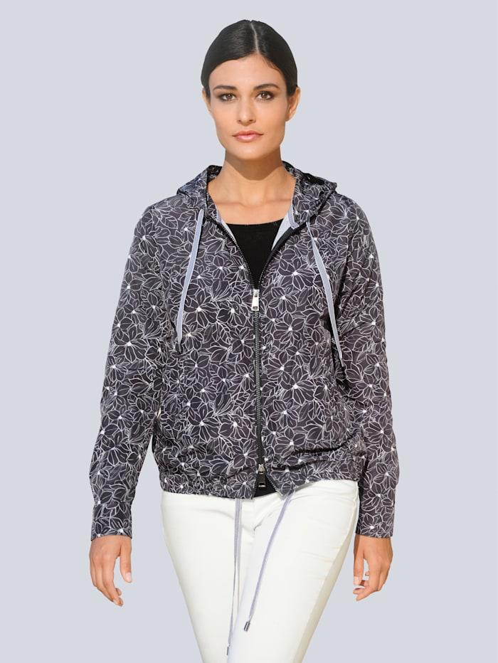 Alba Moda Jacka med mönster som är exklusivt för Alba Moda, Svart/Vit