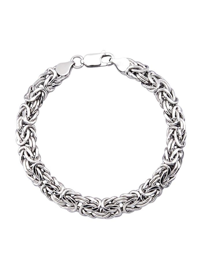 Königsarmband aus Silber, Silberfarben