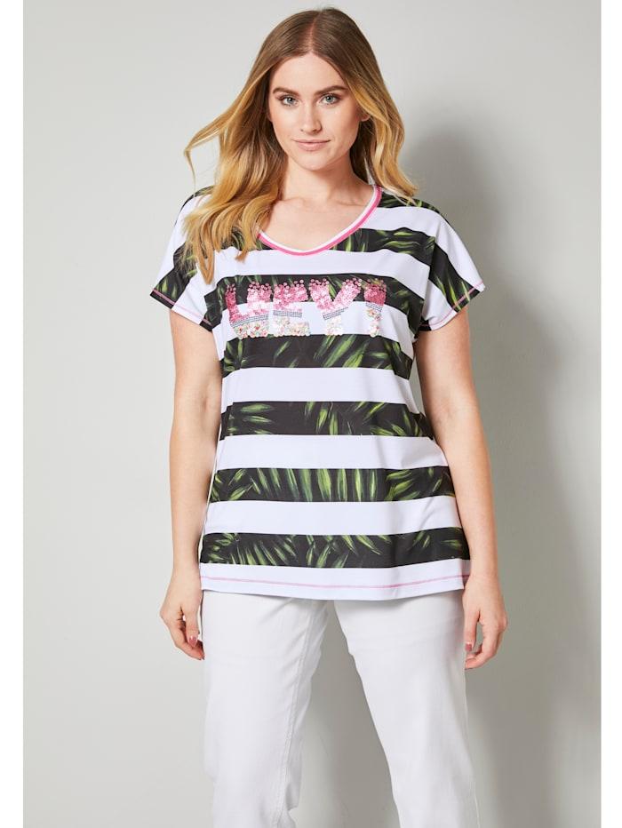 Shirt mit effektvollen Pailletten