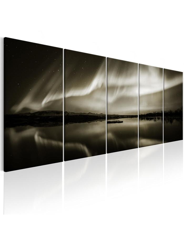 artgeist Wandbild Lake in Sepia I, Braun,Beige,Weiß