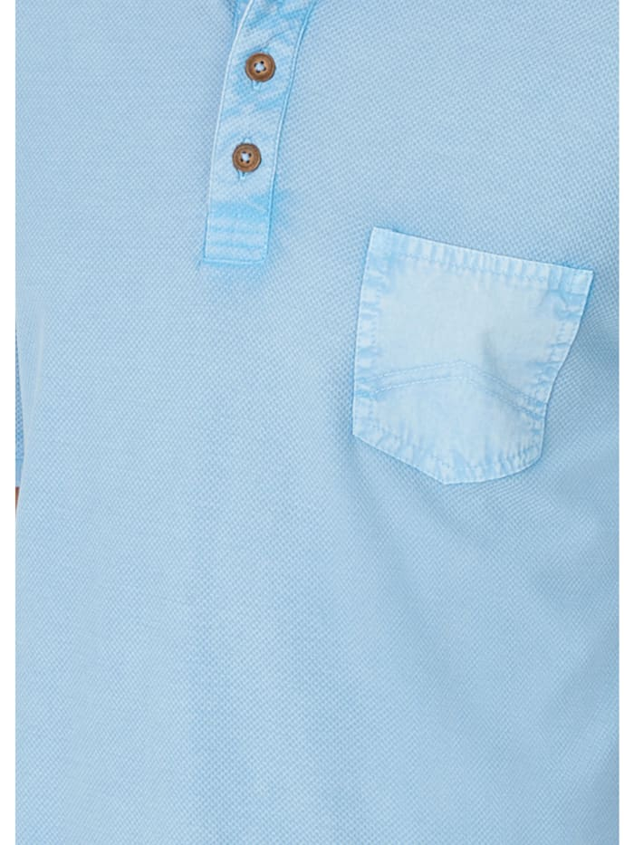 Washer-Poloshirt in Flammengarn