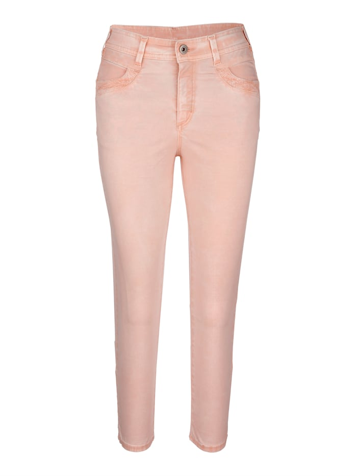 Cropped trousers in a subtle washed finish