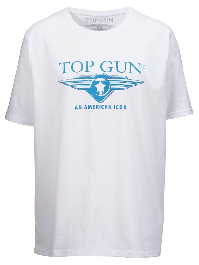 Top Gun T-shirt van zuiver katoen, Wit