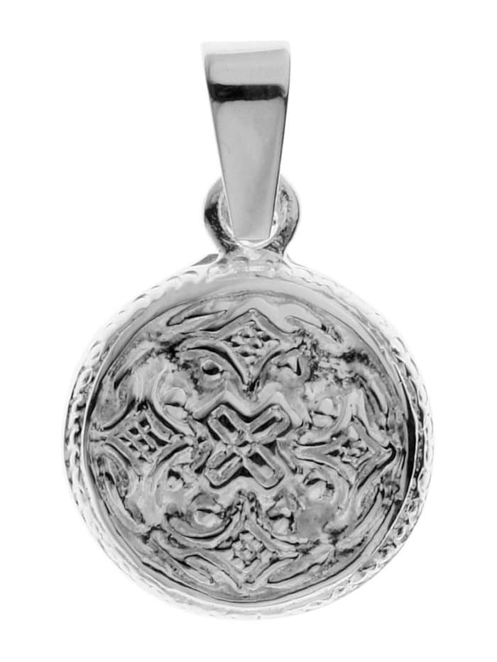 OSTSEE-SCHMUCK Anhänger - Hiddensee 13 mm rund - Silber 925/000 - ,, silber