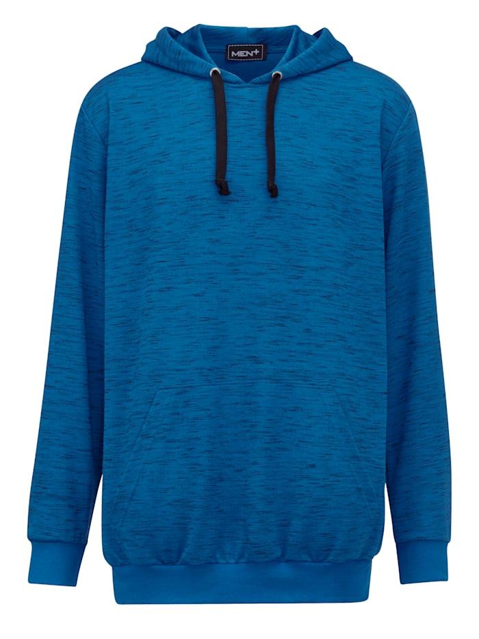Men Plus Sweatshirt Spezialschnitt, Royalblau/Schwarz