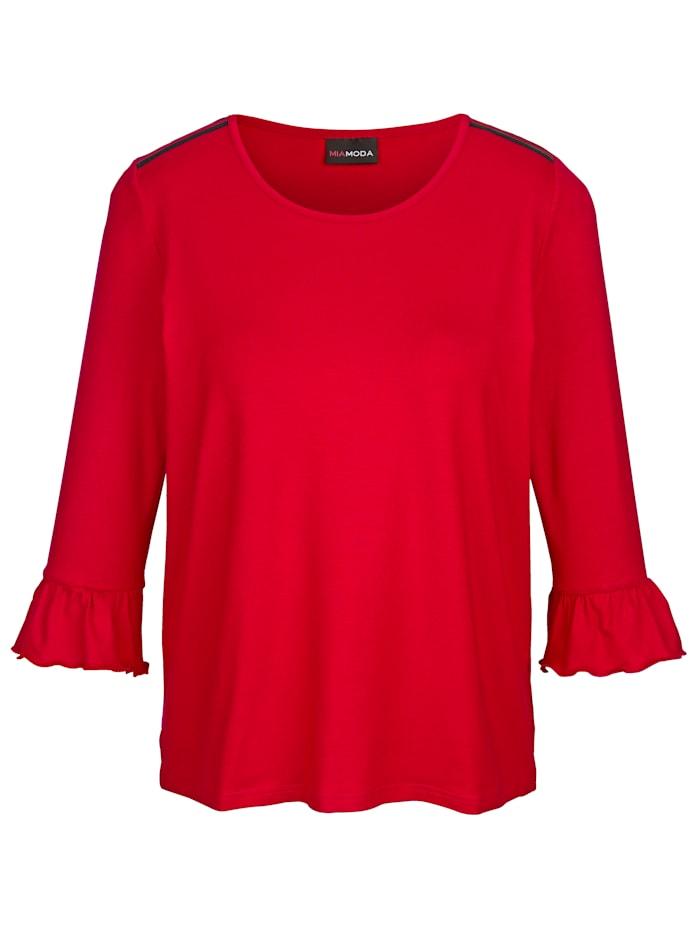 Shirt mit trendigen Streifen-Einsätzen