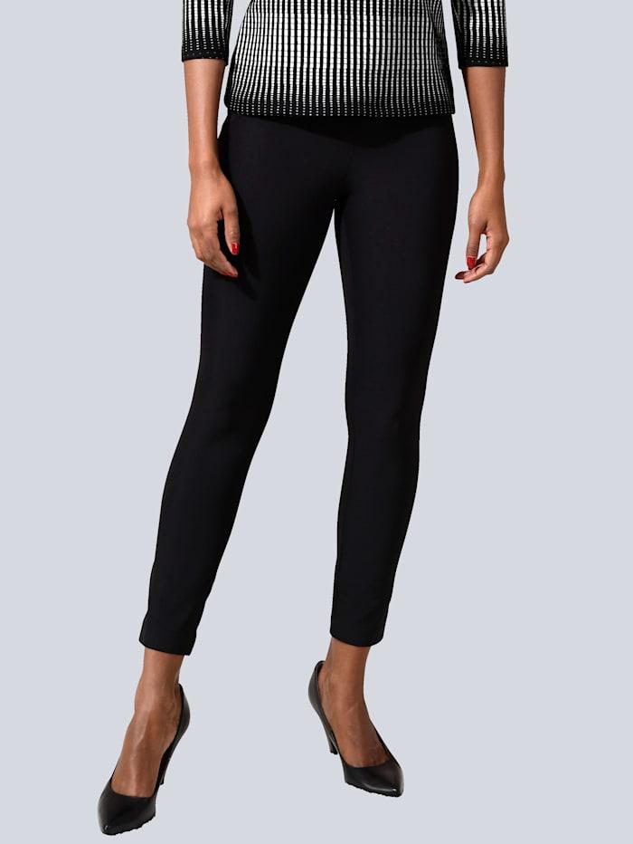 Alba Moda Pantalon glissières fantaisie à la taille, Noir