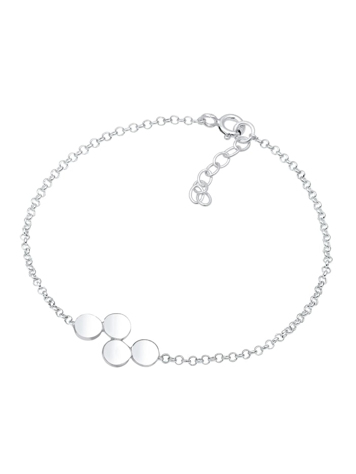 Armband Kreis Geo Basic Erbskette Plättchen 925Er Silber