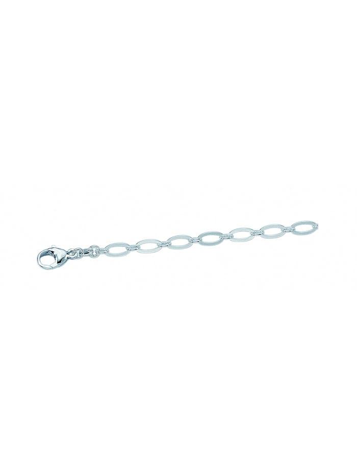 1001 Diamonds Damen Silberschmuck 925 Silber Armband 19 cm Ø 5 mm, silber