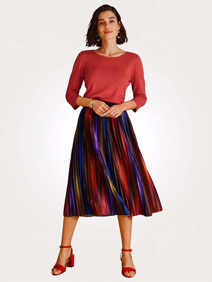 Plisé sukňa v pohodlnom strihu