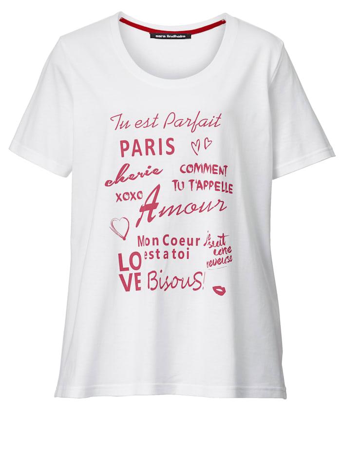 Tekstisomisteinen paita