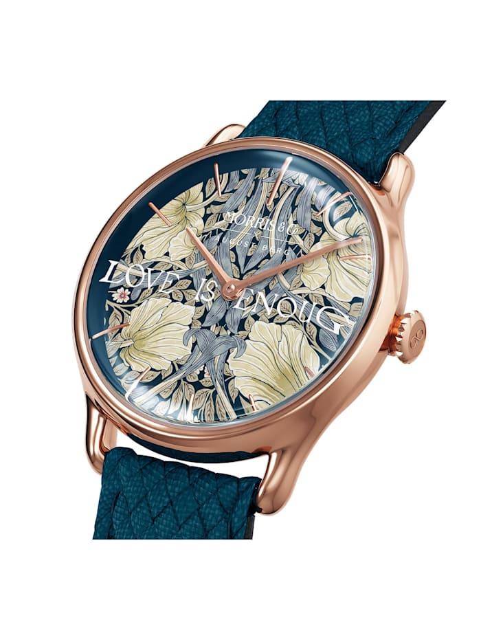 Uhr MORRIS & CO Rose Gold Indigo Perlon 30mm