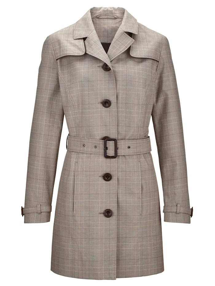 Trench coat in pure cotton