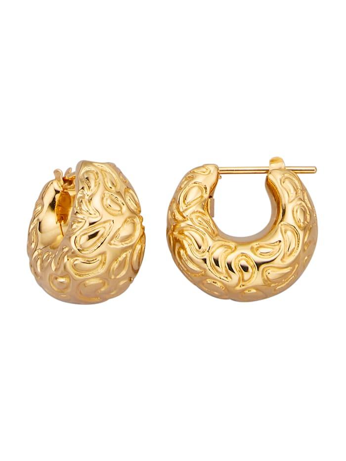 Amara Gold Creolen im Barockstil, Gelbgoldfarben