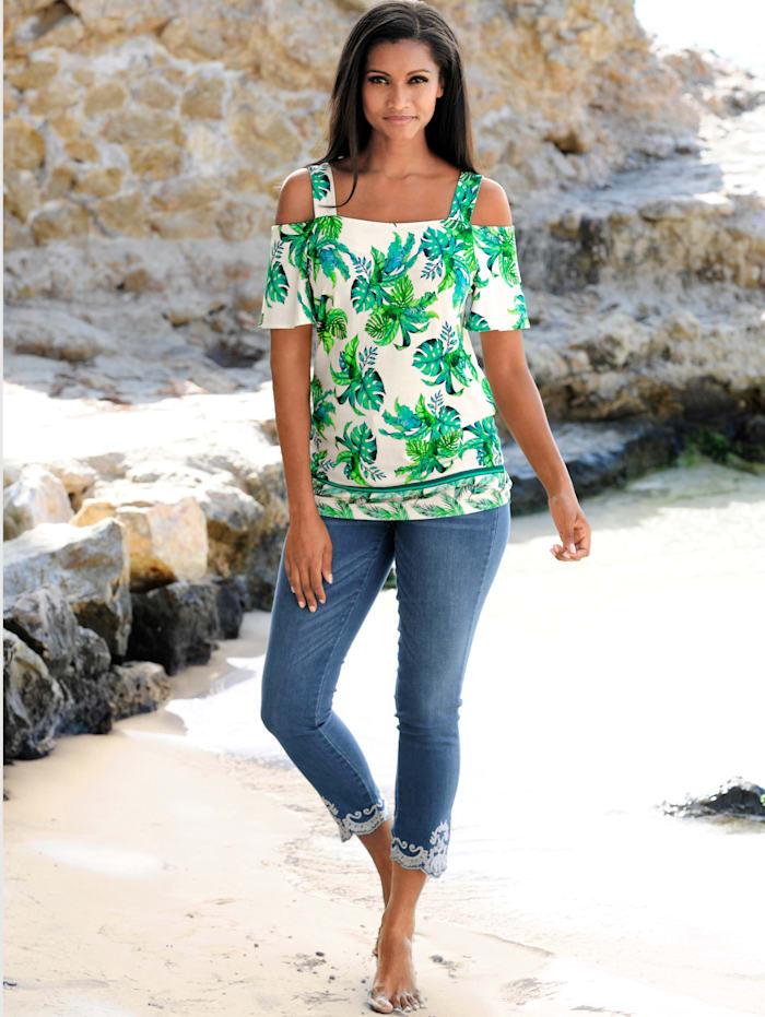 Strandshirt im Off-Shoulder-Style