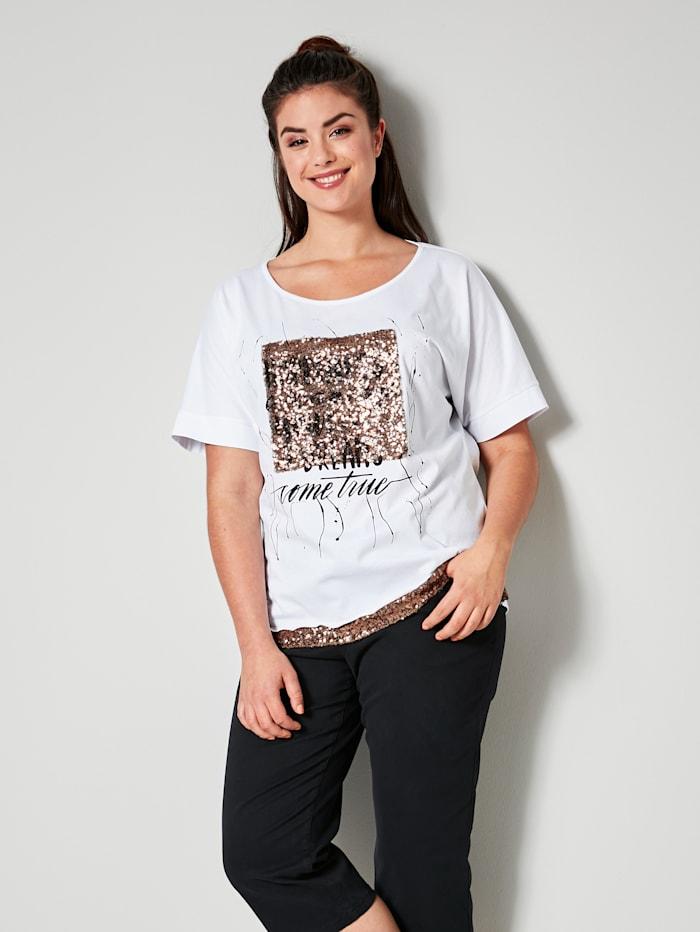 Angel of Style Shirt aus reiner Baumwolle, Weiß