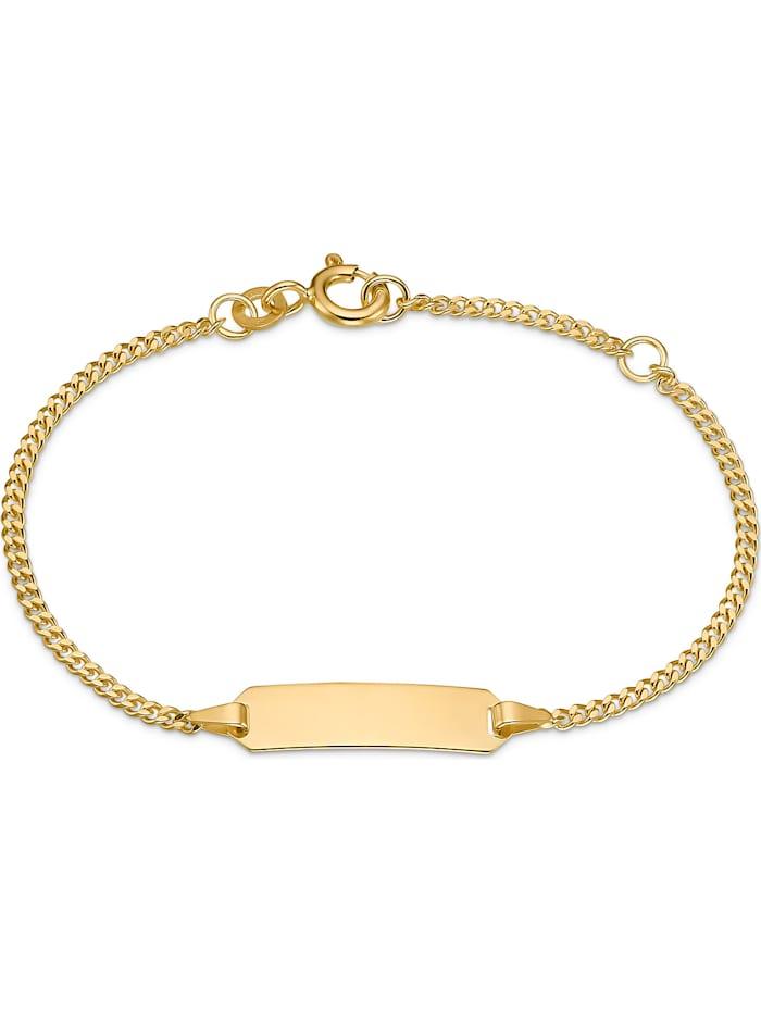 FAVS. FAVS Mädchen-I.D.-Kinderarmband 375er Gelbgold, gelbgold
