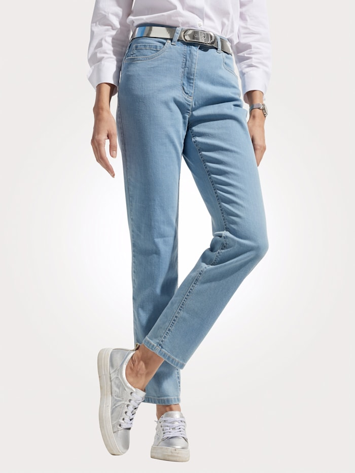 MONA Jeans with exclusive logo embroidery, Light Blue
