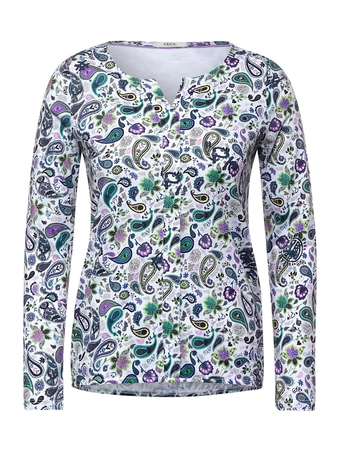 Cecil Shirt mit Paisleymuster, pure off white