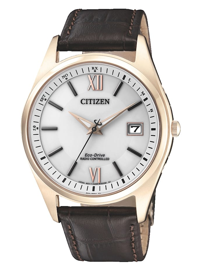Citizen Herren-Funkuhr Eco-Drive AS2053-11A, Braun