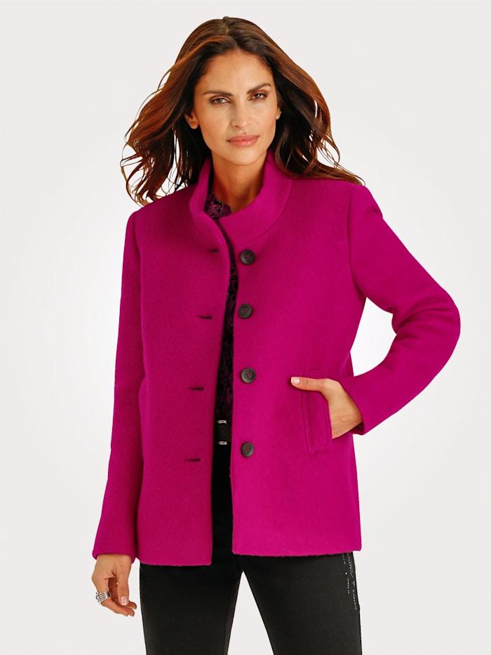MONA Wollblazer aus weichem Walk, Pink