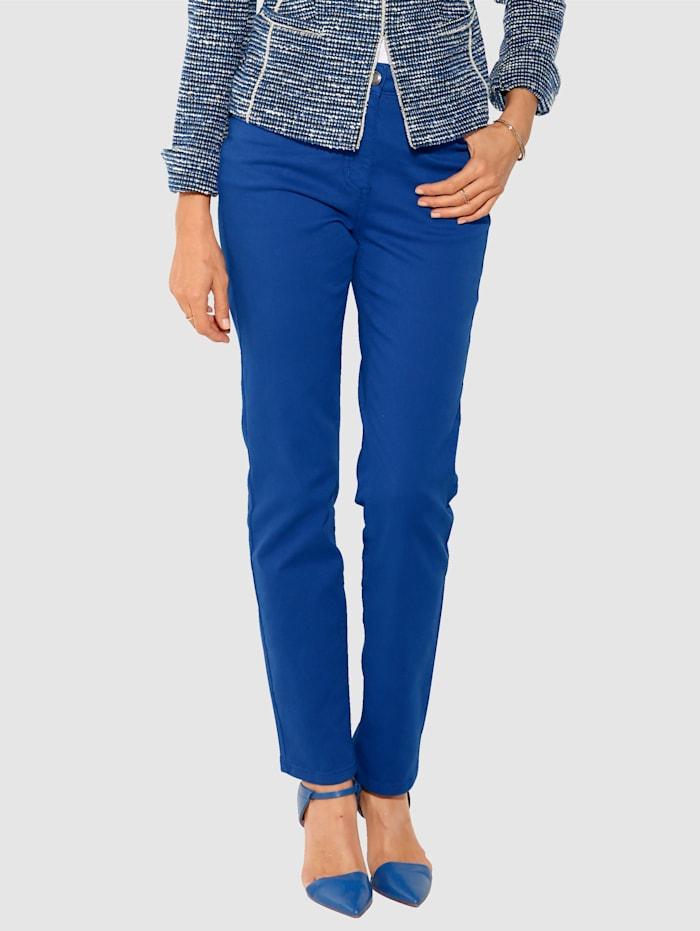 MONA Pantalon partiellement extensible en grandes tailles, Bleu roi