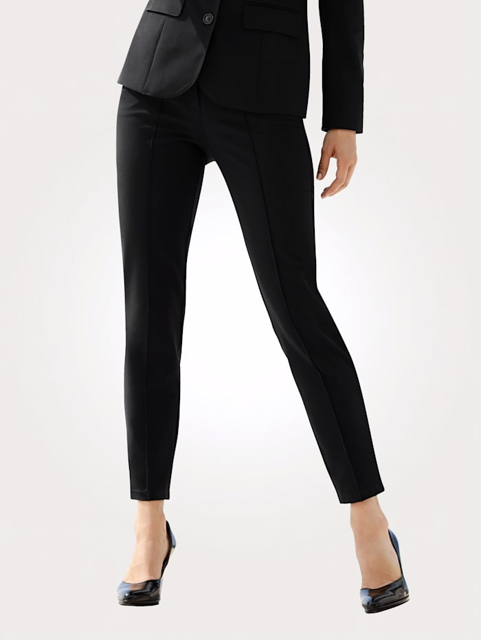 MONA Trousers with front crease, Black