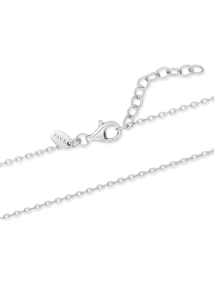 FAVS Damen-Kette 925er Silber 10 Zirkonia