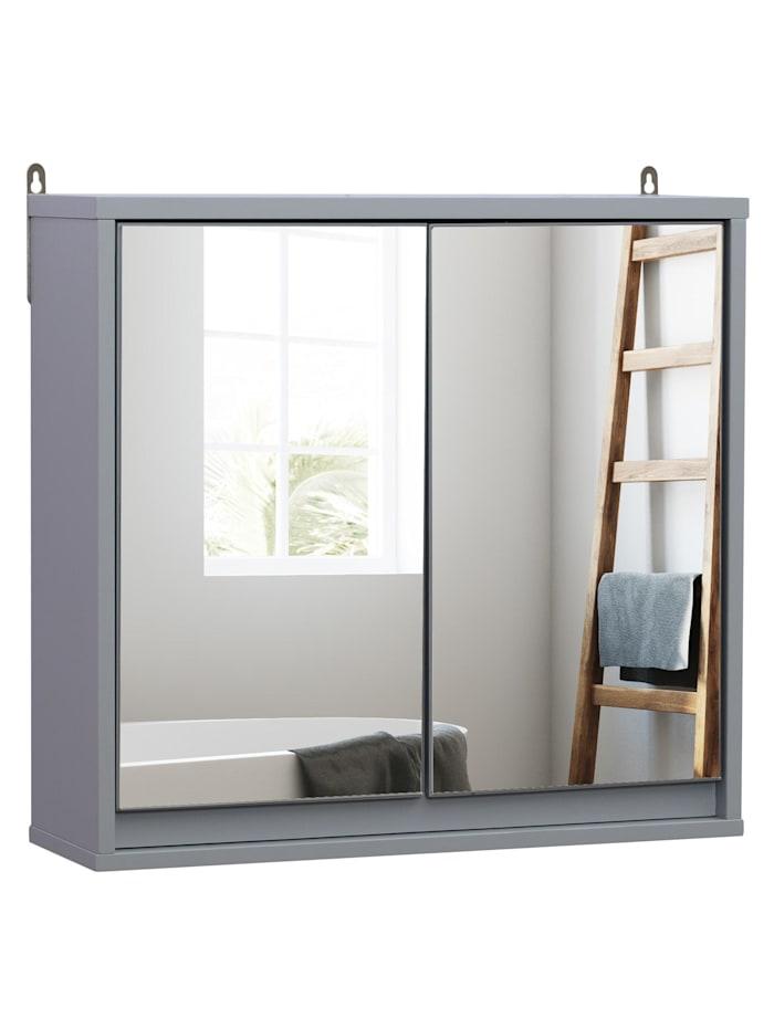 HOMCOM Spiegelschrank, grau