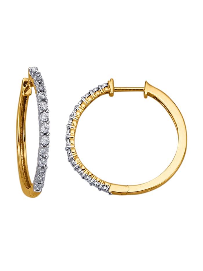 Diemer Diamant Creolen mit Brillanten, Gelbgoldfarben