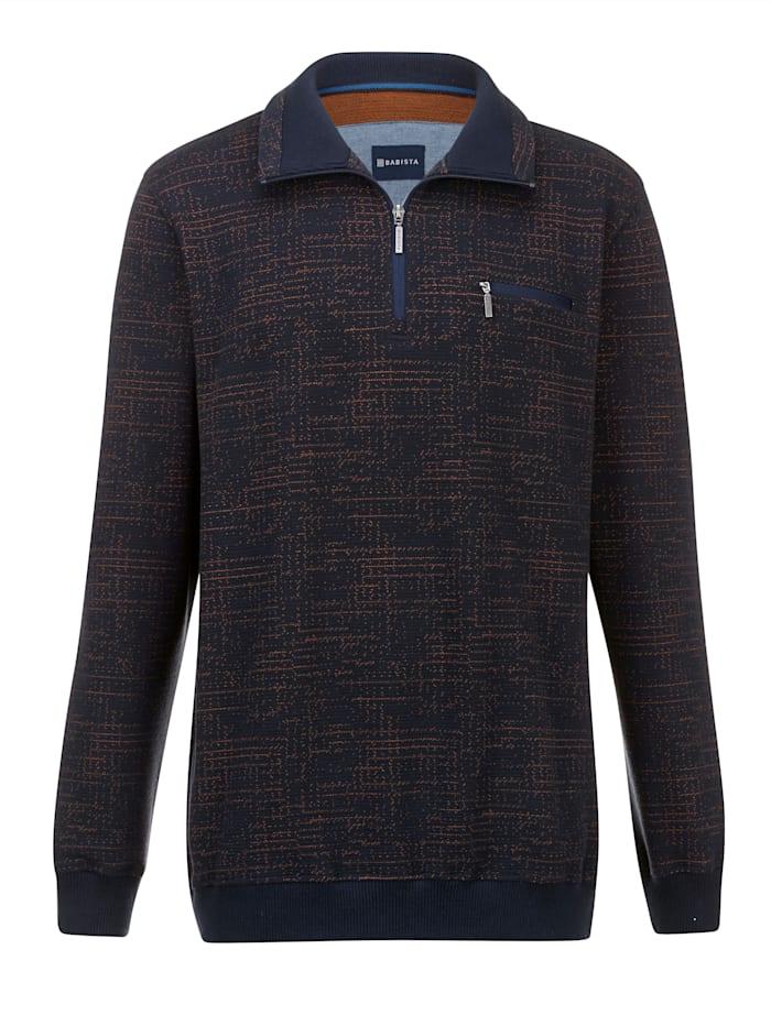 BABISTA Sweatshirt mit Jacquard-Muster, Marineblau