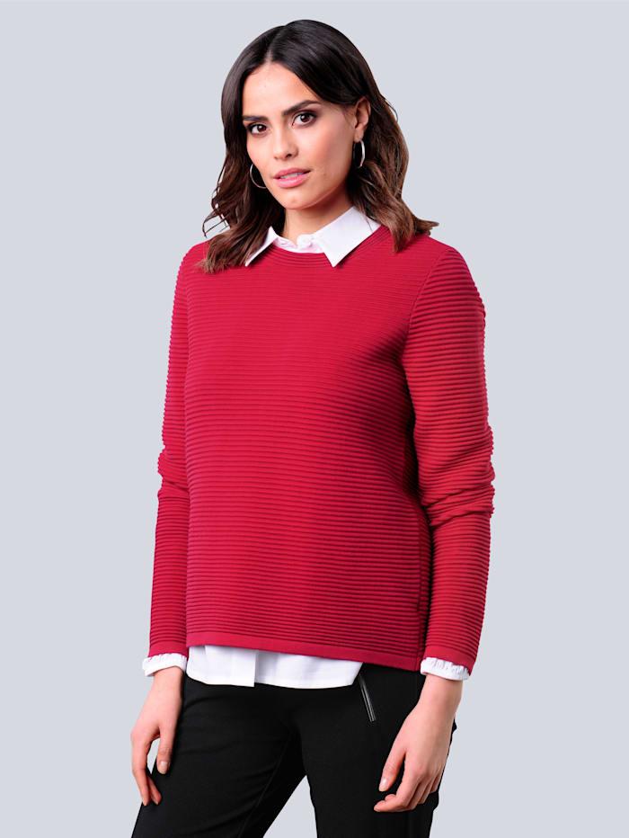 Alba Moda Pullover mit effektvoller Verarbeitung im Rücken, Rot