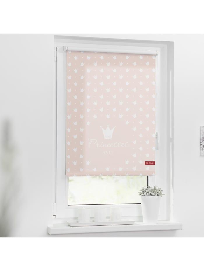 Lichtblick Sonnenschutzsysteme Rollo Klemmfix, ohne Bohren, blickdicht, Prinzessin Lilly - Rosa, Rosa