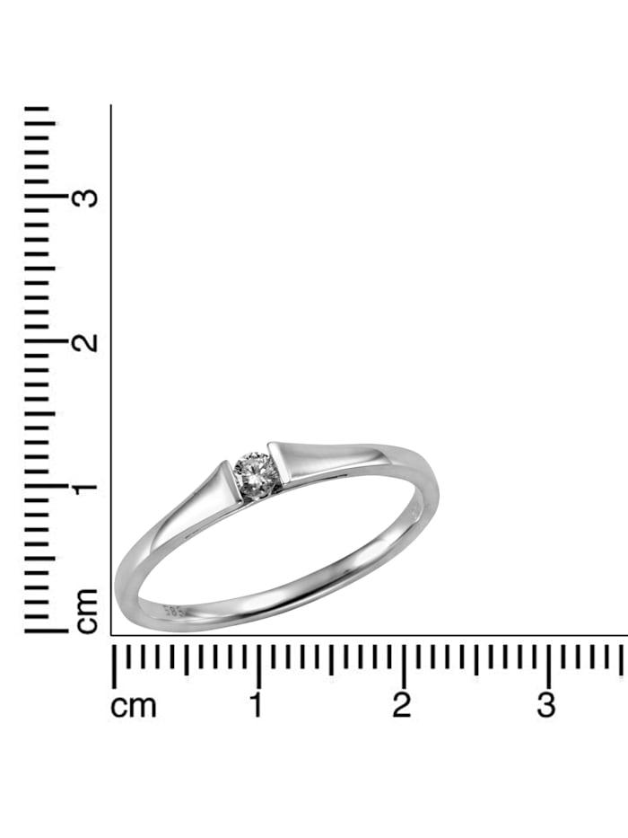 Ring 585/- Gold Brillant weiß Brillant Glänzend 0.08Karat 585/- Gold