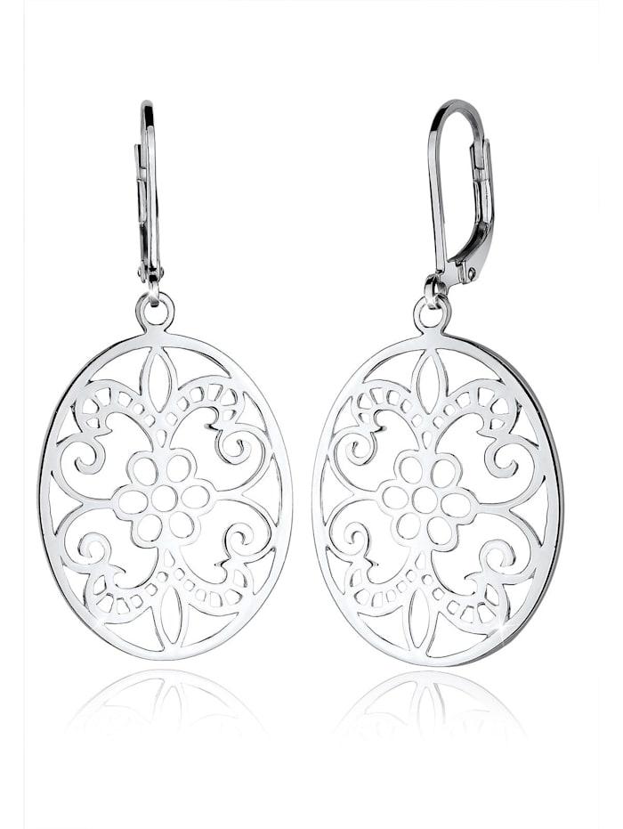 Elli Ohrringe Ornament Floral Orientalisch 925 Sterling Silber, Silber