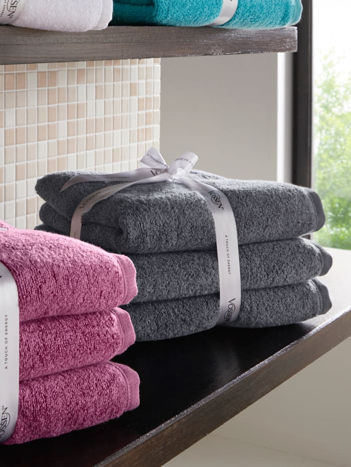Vossen Frottierwaren 'Smart Towel', Grau
