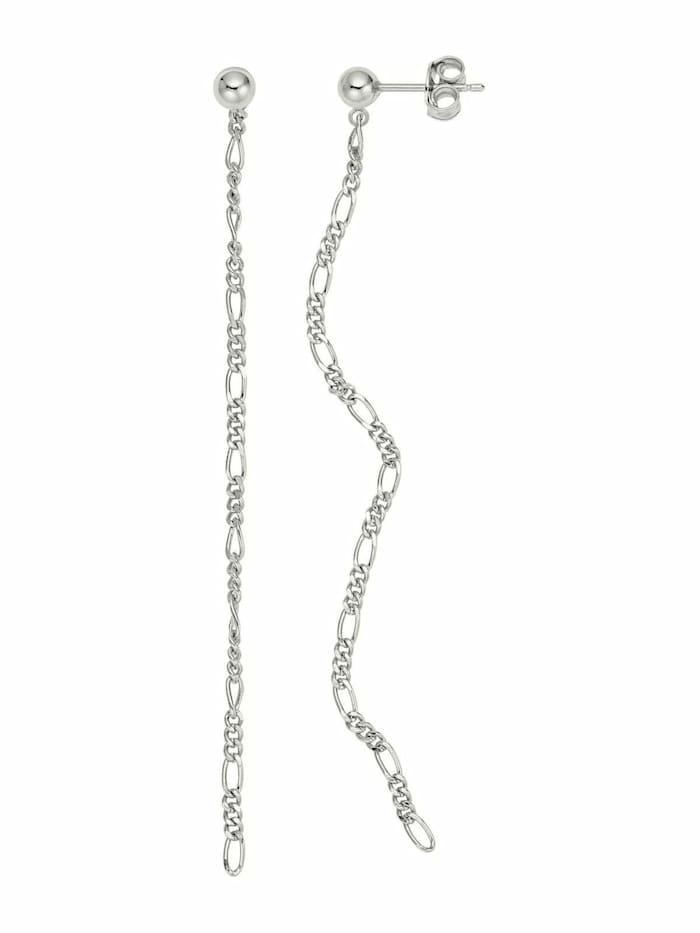 Noelani Ohrhänger für Damen, Sterling Silber 925, Figarogliederung, Silber