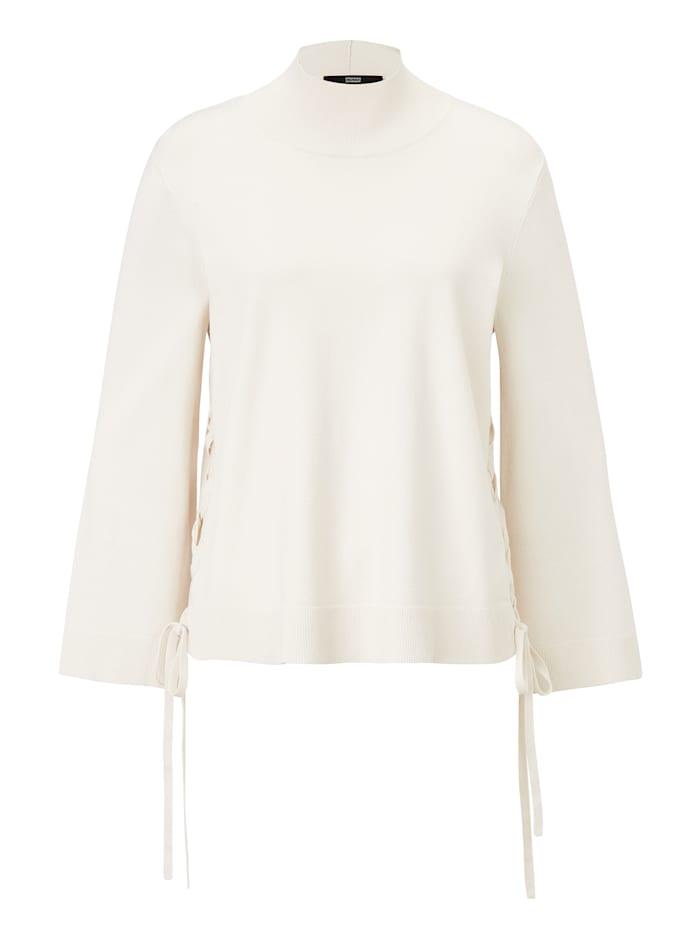 STEFFEN SCHRAUT Pullover mit Stehkragen, Creme-Weiß