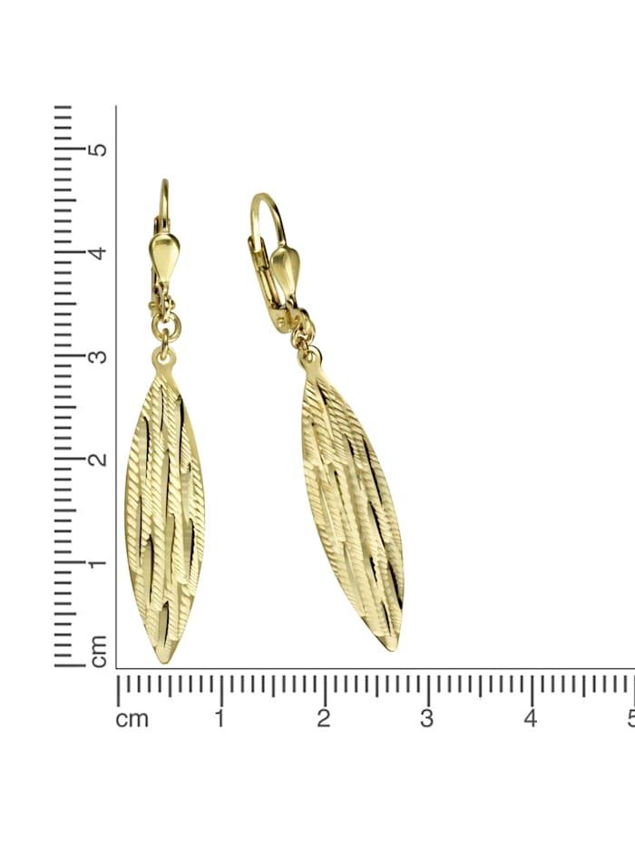 Ohrhänger 333/- Gold 4,9cm Diamantiert 333/- Gold