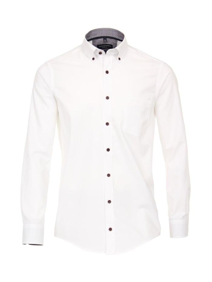CASAMODA Hemd uni Casual Fit, Weiß