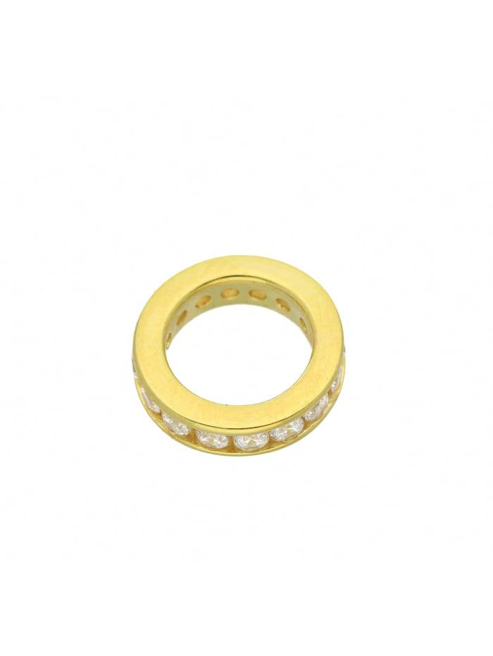 1001 Diamonds Damen Goldschmuck 585 Gold Anhänger Taufring mit Zirkonia Ø 12,4 mm, gold