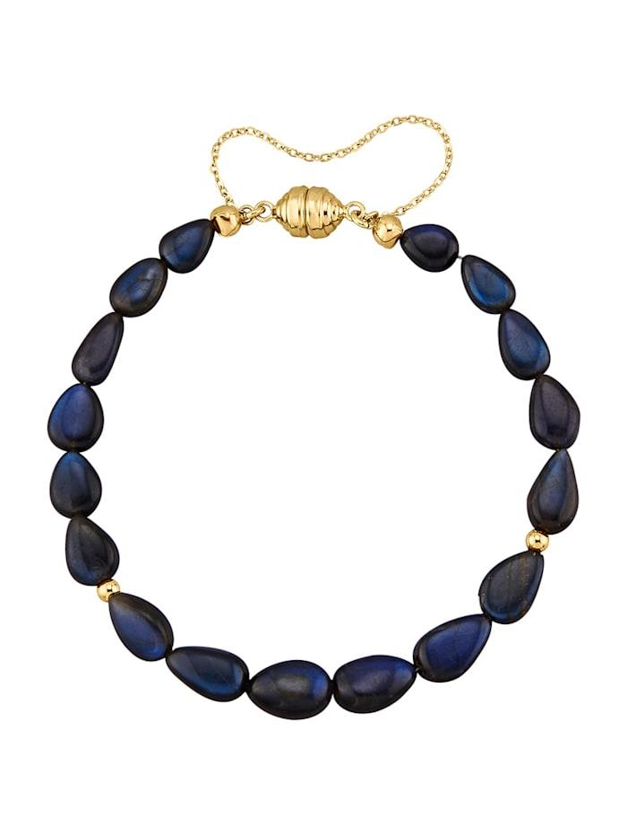 Diemer Farbstein Labradorit-Armband, Blau
