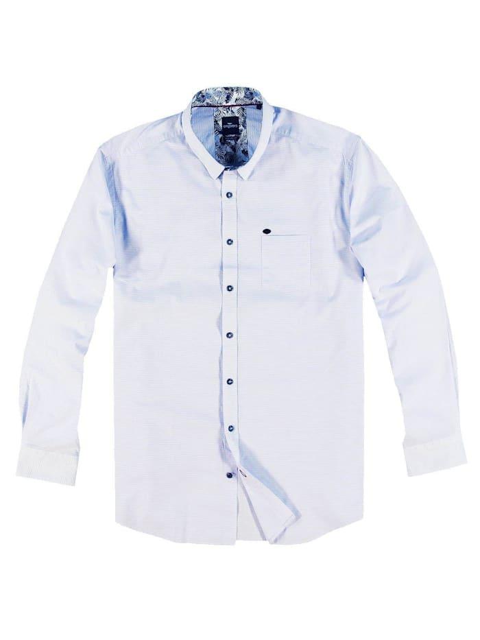Engbers Sommerliches Hemd mit floralem Muster, Hellblau